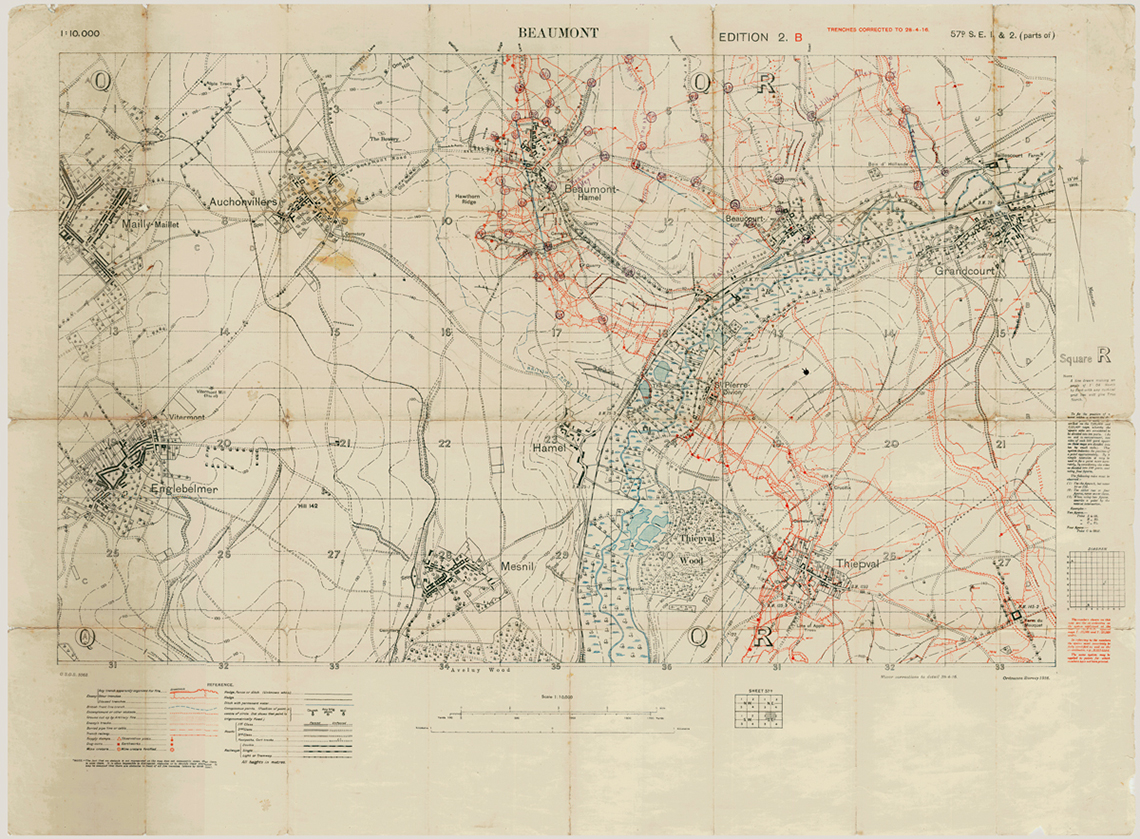 The Trail of the Caribou in Trench Maps
