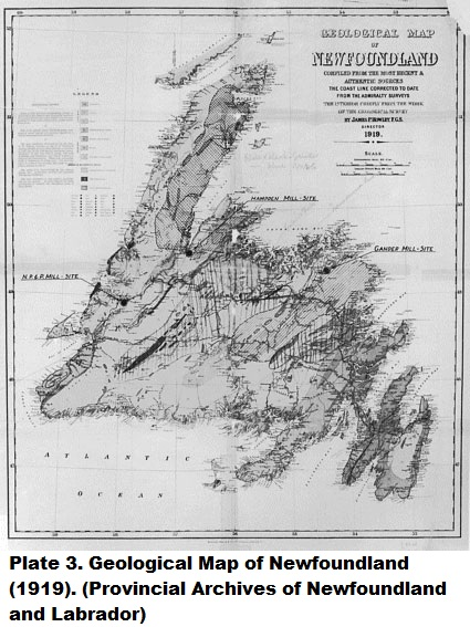The Geological Survey Of Newfoundland The Rooms - Map of newfoundland