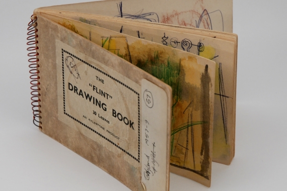 Rae Perlin. Untitled (artist sketchbook) (1959). Mixed media. 10.5 x 15.5 cm. Collection of The Rooms.
