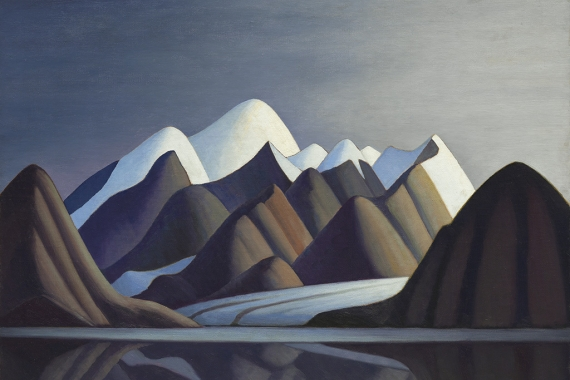 Lawren Harris. Mount Thule, Bylot Island. 1930. Oil on canvas. 82.0 x 102.3 cm. Collection of the Vancouver Art Gallery: Gift of the Vancouver Art Gallery Women's Auxiliary, VAG 49.6. Photo: Trevor Mills, Vancouver Art Gallery.
